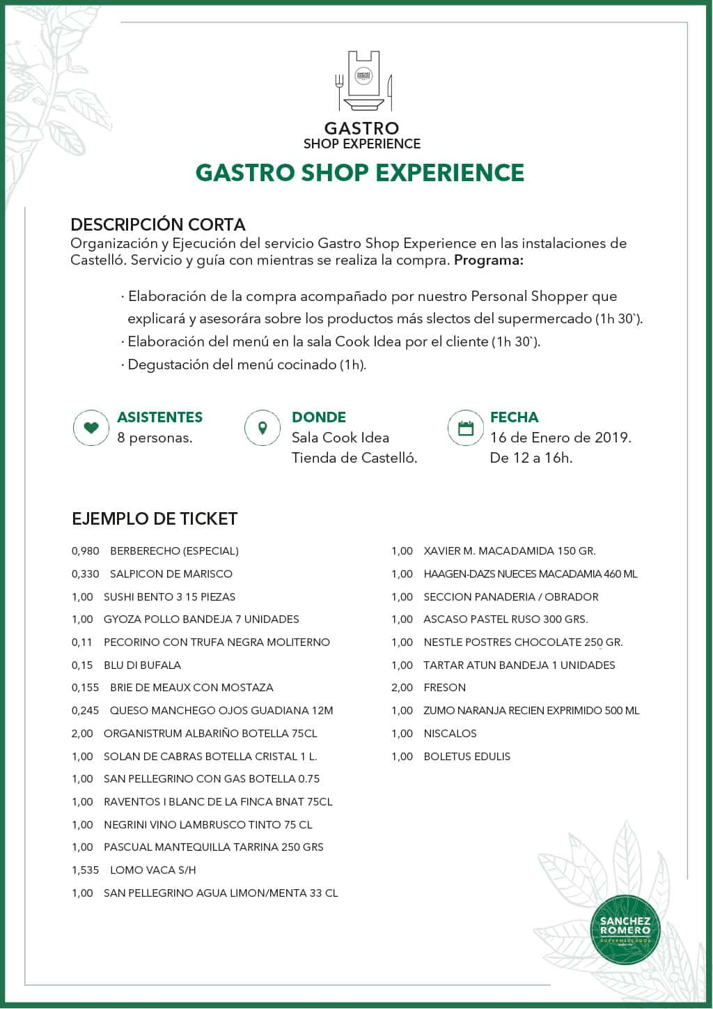 Ejemplo Gastro Shop Business